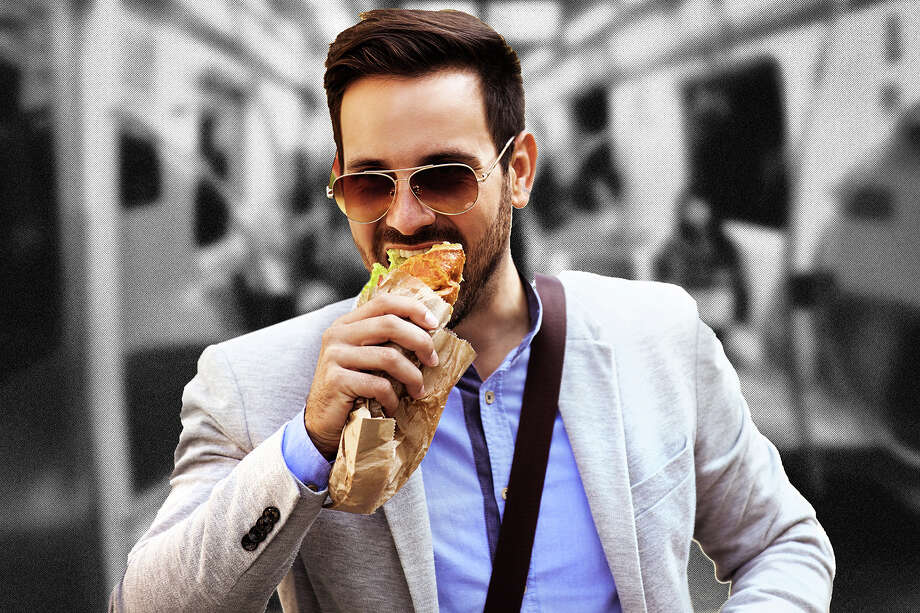 Eating on public transit is just one of the many faux pas. Photo: Photo Illustration; Getty Images