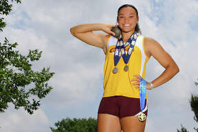 East Alton-Wood River's Jayden Ulrich is the 2019 Telegraph Small-Schools Girls Track Athlete of the Year. As a sophomore, Ulrich became EA-WR girls track's first state champion with a first-place finish in the shot to go along with runner-up in the discus at the Class 2A state meet in Charleston.
