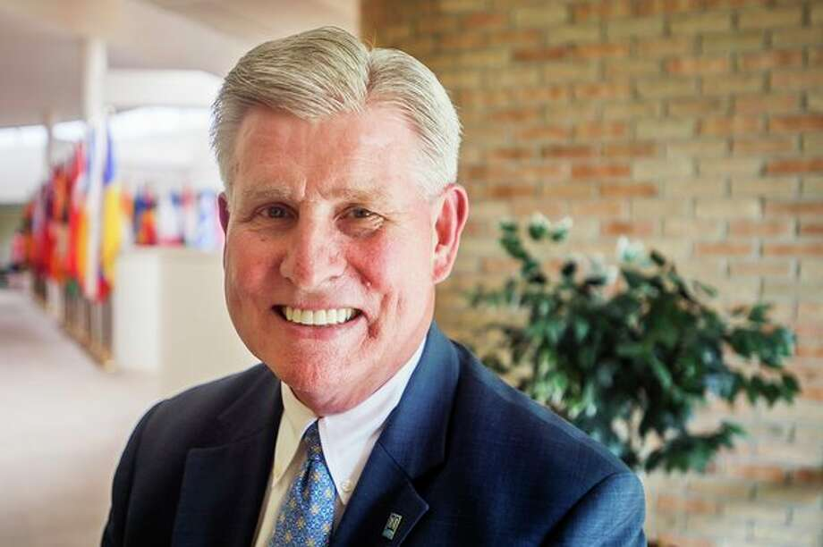 Outgoing Northwood University President Keith Pretty thought Midland would be a good place to raise a family. (Katy Kildee/kkildee@mdn.net)