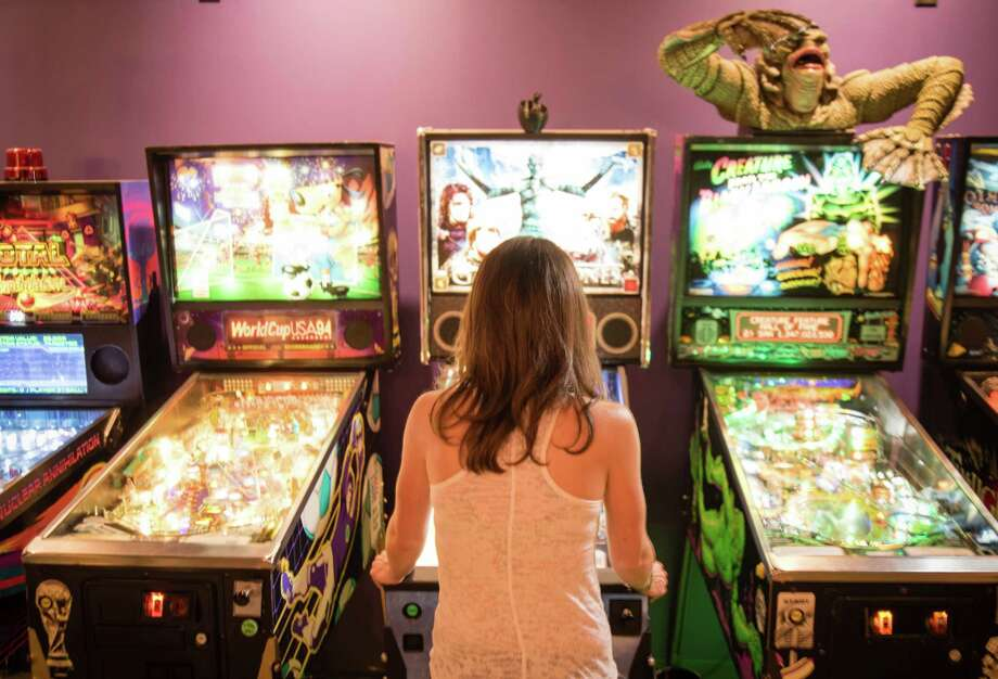 Stephanie Traub has played pinball since she was a child growing up in the '90s but became a competitive player in 2016, and is a regular in the Washington, D.C.-area pinball scene. Photo: Photo For The Washington Post By Andre Chung / For The Washington Post