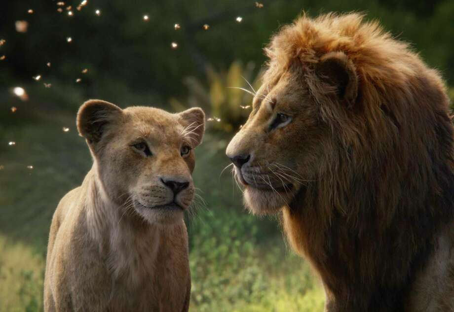 "Nala and Simba get reacquainted in ""The Lion King."" Photo: /Associated Press / © 2019 Disney Enterprises, Inc. All Rights Reserved."