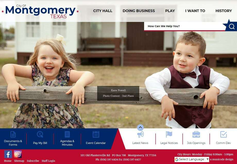 The city of Montgomery's new website is now live. Photo: Submitted Photo / Submitted Photo