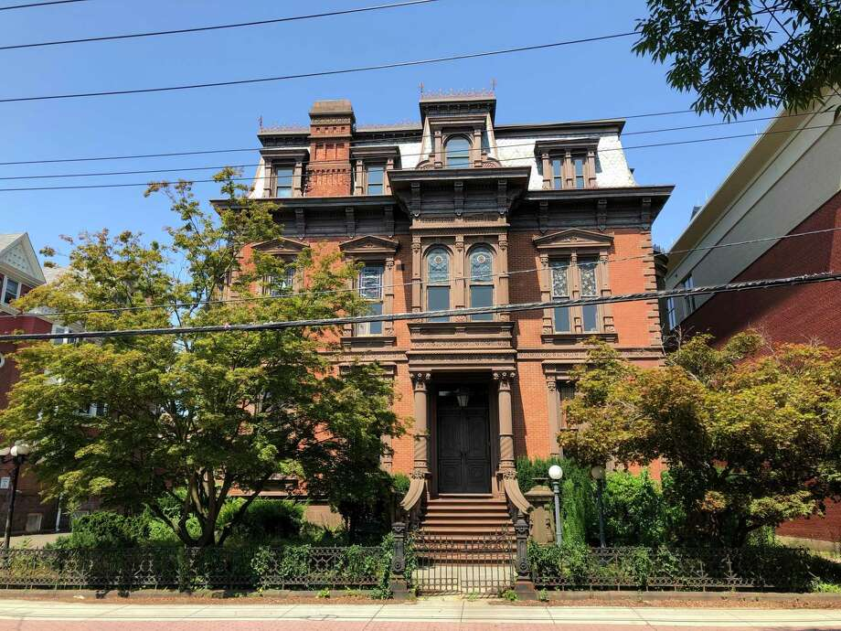The house at 442 Orange St. in New Haven owned by Shabtai, Inc. The home is historically known as the Anderson Mansion. Photo: Ben Lambert / Hearst Connecticut Media