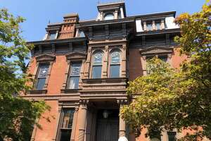 The house at 442 Orange St. in New Haven owned by Shabtai, Inc. The home is historically known as the Anderson Mansion.