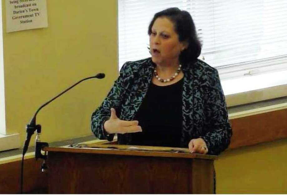 Town treasurer Joan Hendrickson is accusing the RTM Finance & Budget Committee of bullying her in regard to the town budget. Photo: Channel 79 / Connecticut Post