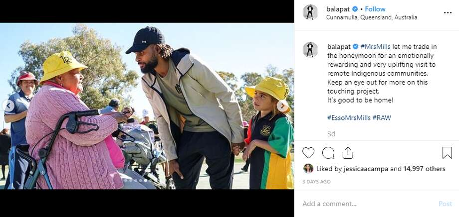 @balapat: #MrsMills let me trade in the honeymoon for an emotionally rewarding and very uplifting visit to remote Indigenous communities.