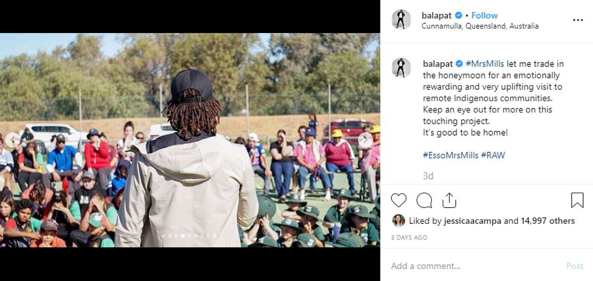 The Spurs' Patty Mills officially launched the community project he has been working on to help alleviate water disparities in his native Australia. Earlier this summer he used his honeymoon to provide water relief for a small Australian town. Tweet: @balapat: #MrsMills let me trade in the honeymoon for an emotionally rewarding and very uplifting visit to remote Indigenous communities. Keep an eye out for more on this touching project. It's good to be home!
