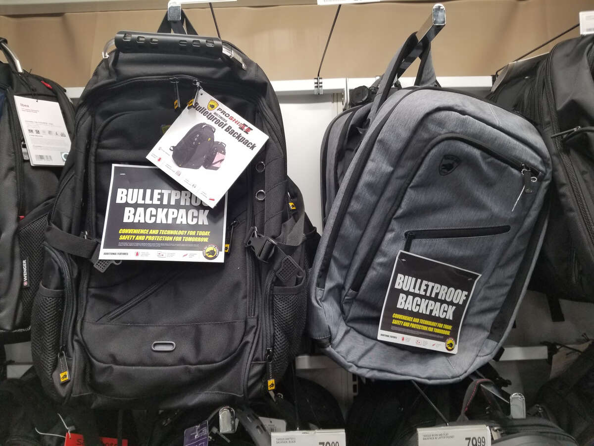 Office Depot has the bulletproof backpacks priced at up to $205.