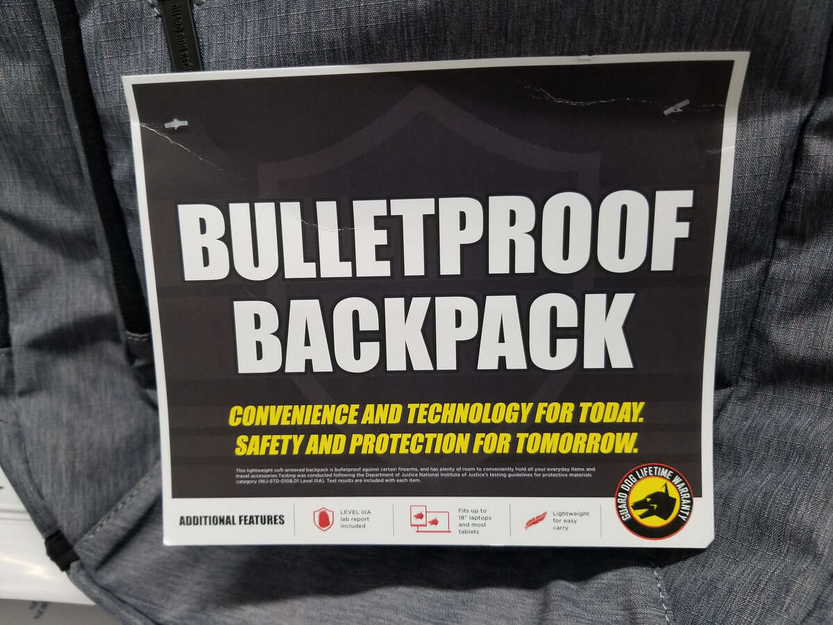 Office Depot also has the bulletproof backpacks available on its website.