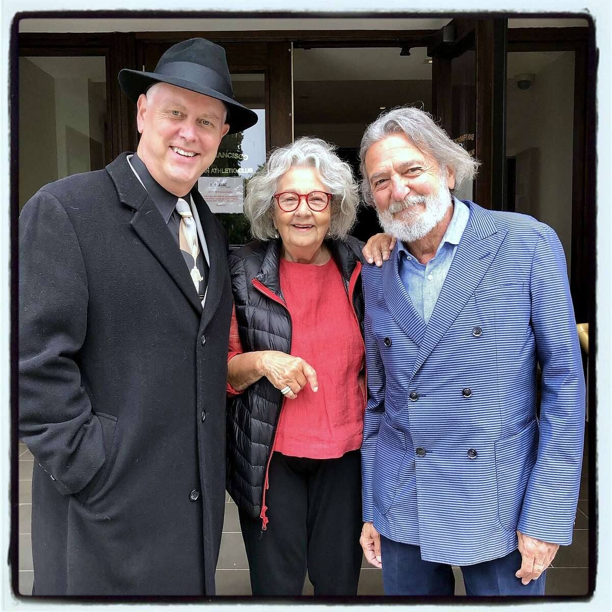Noir Czar Eddie Muller (left) with Jeannette Etheredge and actor Don Novello at the Litquake
