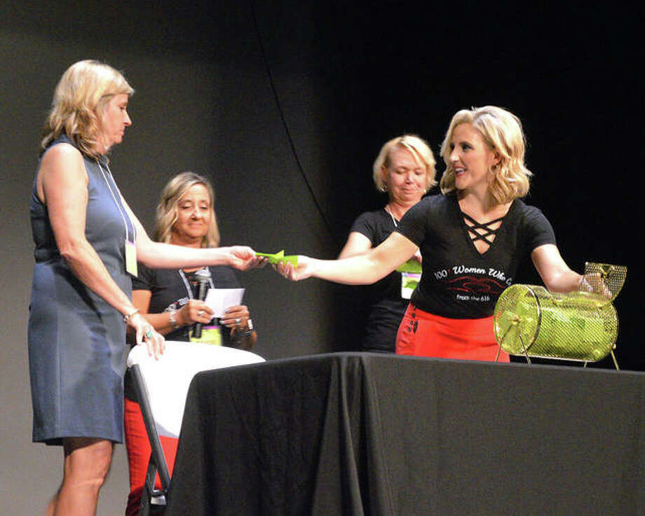 100+ Women Who Care from the 618 held its first quarterly impact meeting July 25 at the Wildey Theatre. Photo: Scott Marion | Hearst Illinois