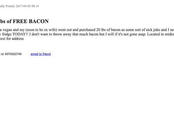 20 pounds of free bacon': Strange, hilarious 'Best Of