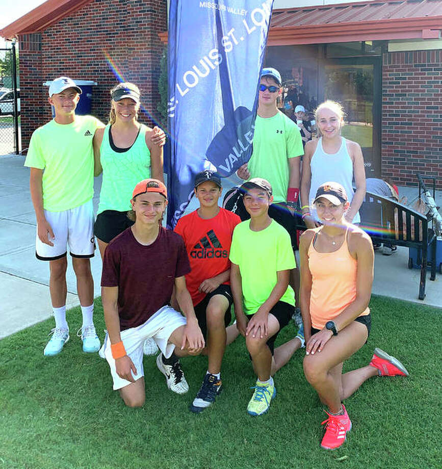 The 18 and under Gold team from Edwardsville Tennis Academy won the St. Louis District in Junior Team Tennis and finished seventh in the Missouri Valley Section Championships in Tulsa, Okla. Photo: For The Intelligencer