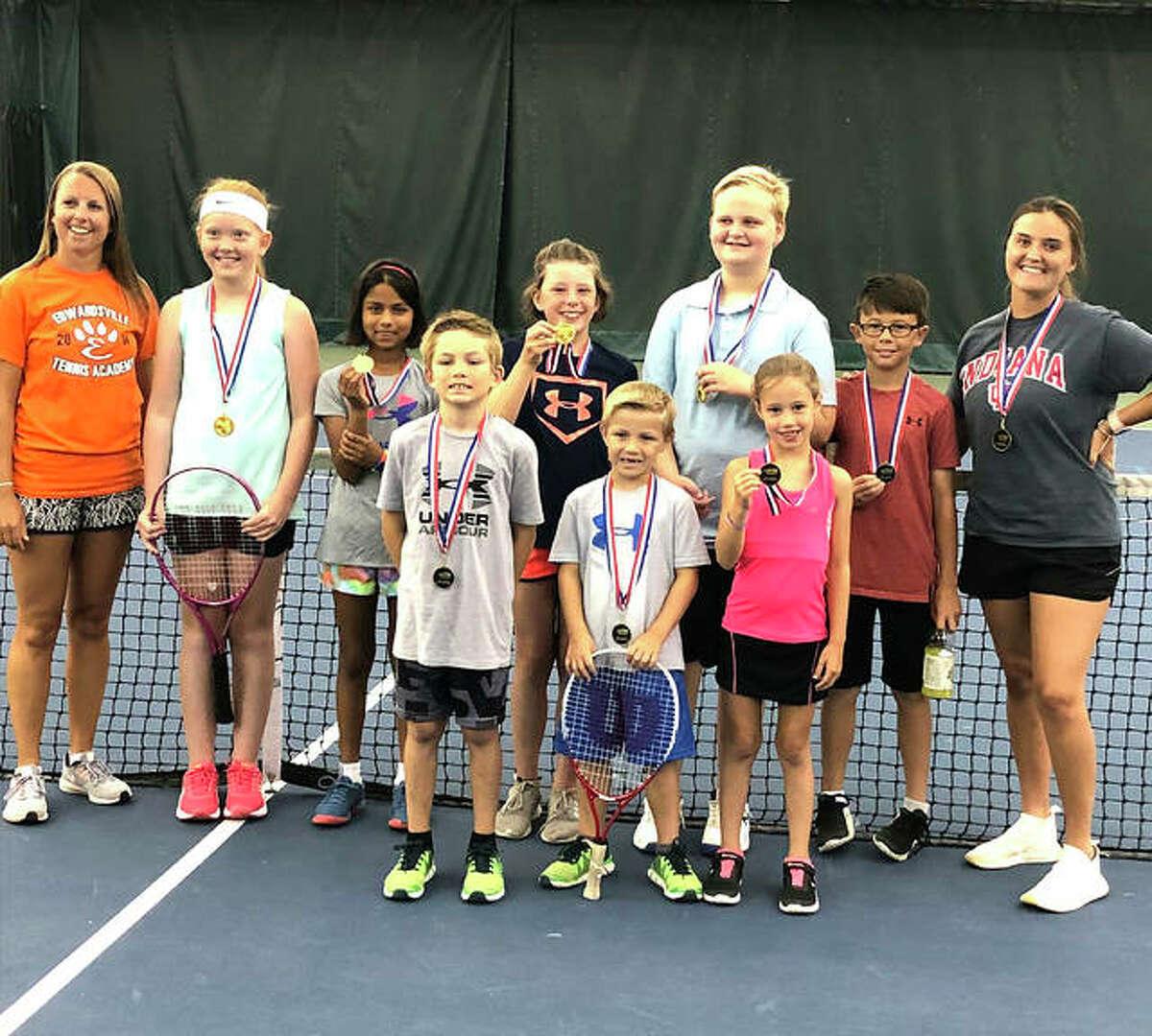 The 10 and under team from Edwardsville Tennis Academy won the St. Louis District in Junior Team Tennis.