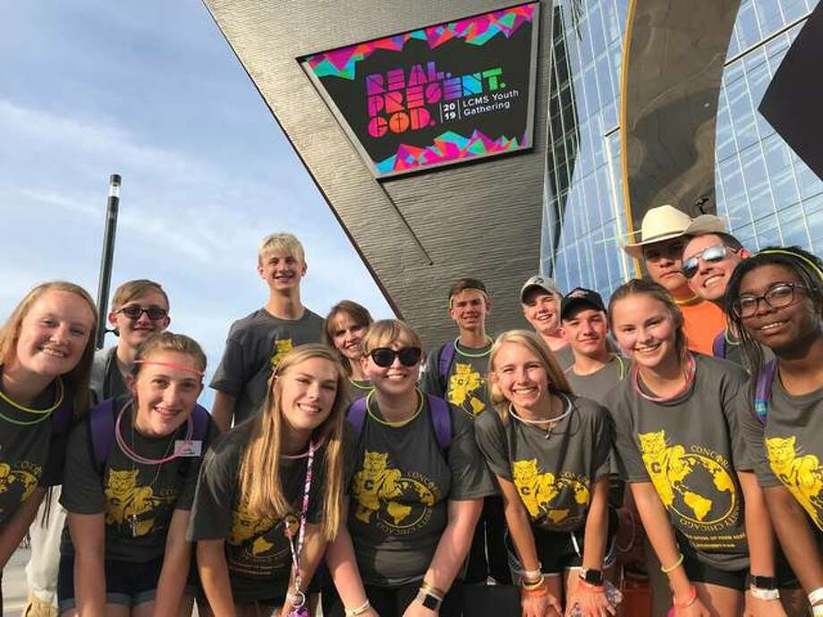 Students from Zion Lutheran School in Bethalto were amog 22,000 youth and adult sponsors from 14 countries at the 2019 LCMS Youth Gathering July 11-15 in Minneapolis.