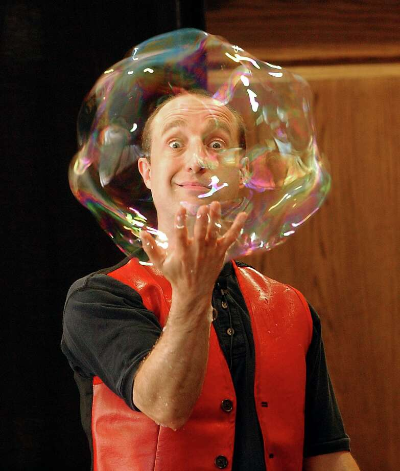"""Casey Carle of East Haddam performs his """"BubbleMania"""" show. Photo: Hearst Connecticut Media File Photo"""