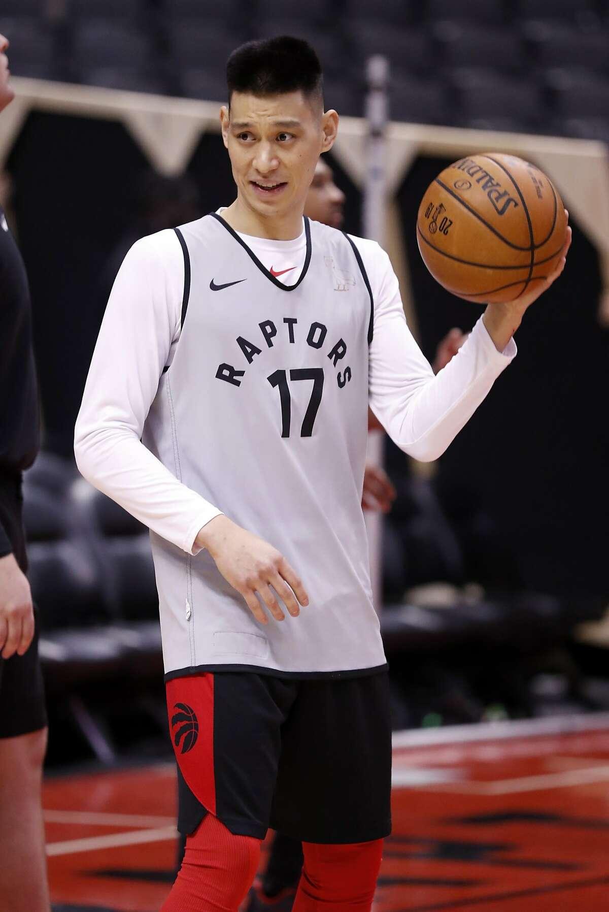 Toronto Raptors' Jeremy Lin during NBA Finals' practice at ScotiaBank Arena in Toronto, Ontario, Canada, on Saturday, June 1, 2019.