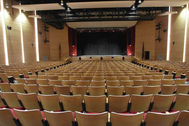 Pictured is the auditorium at Saxe Middle School in New Canaan.