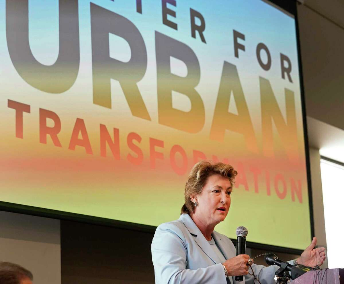 District Attorney Kim Ogg speaks during a press conference about the Center for Urban Transformation's new Juvenile Justice Diversion Program in Fifth Ward, on Monday, July 29, 2019, in Houston. The DA's office contributed $200,000 in civil forfeiture funds to the program's first year. The program will work with 12- to 16-year-olds with non-violent offenses and offer mentorship, volunteer work and community-based support services.