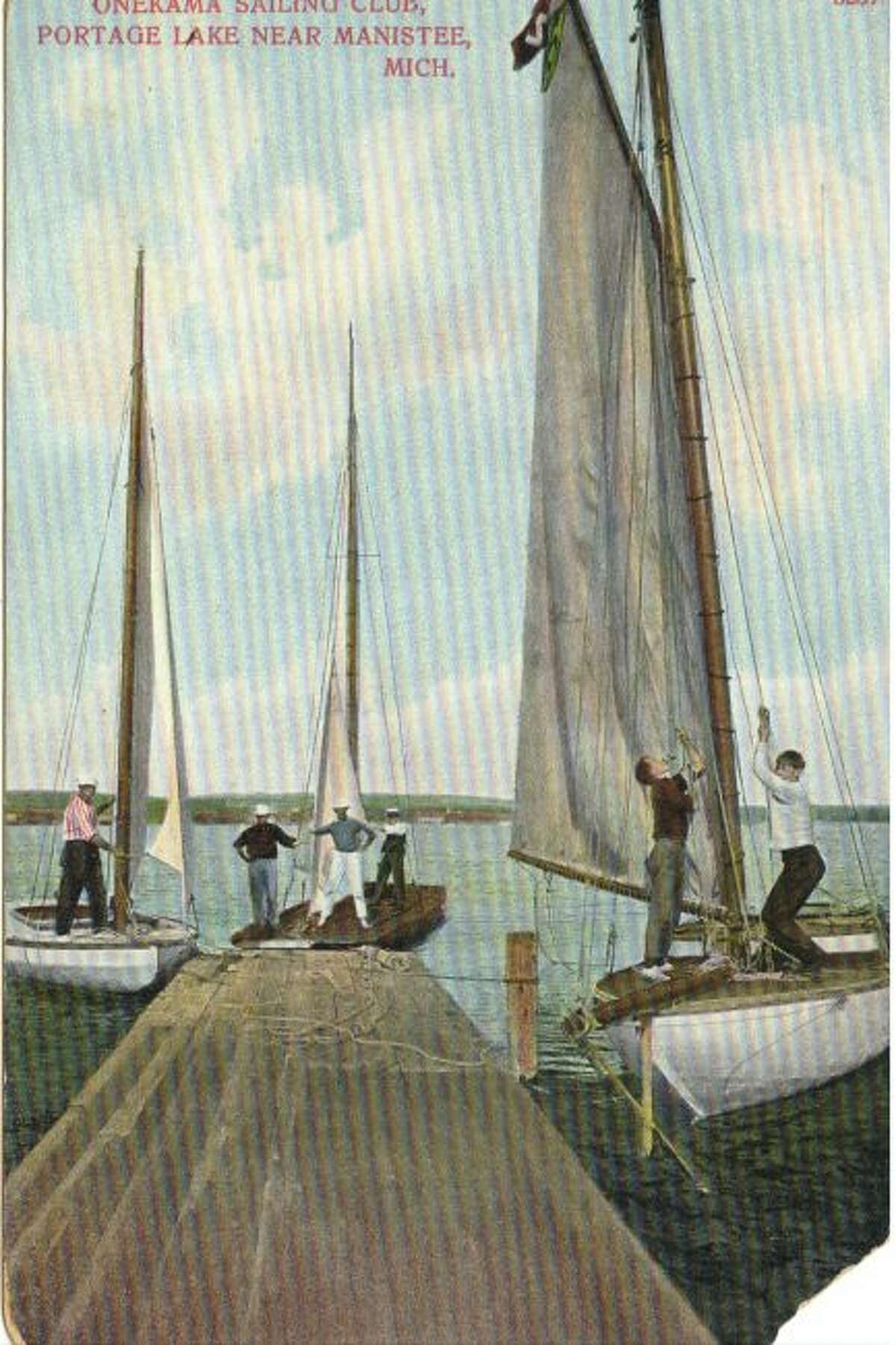 The Portage Lake Yacht Club was a popular group in Manistee County during the early 1900s.