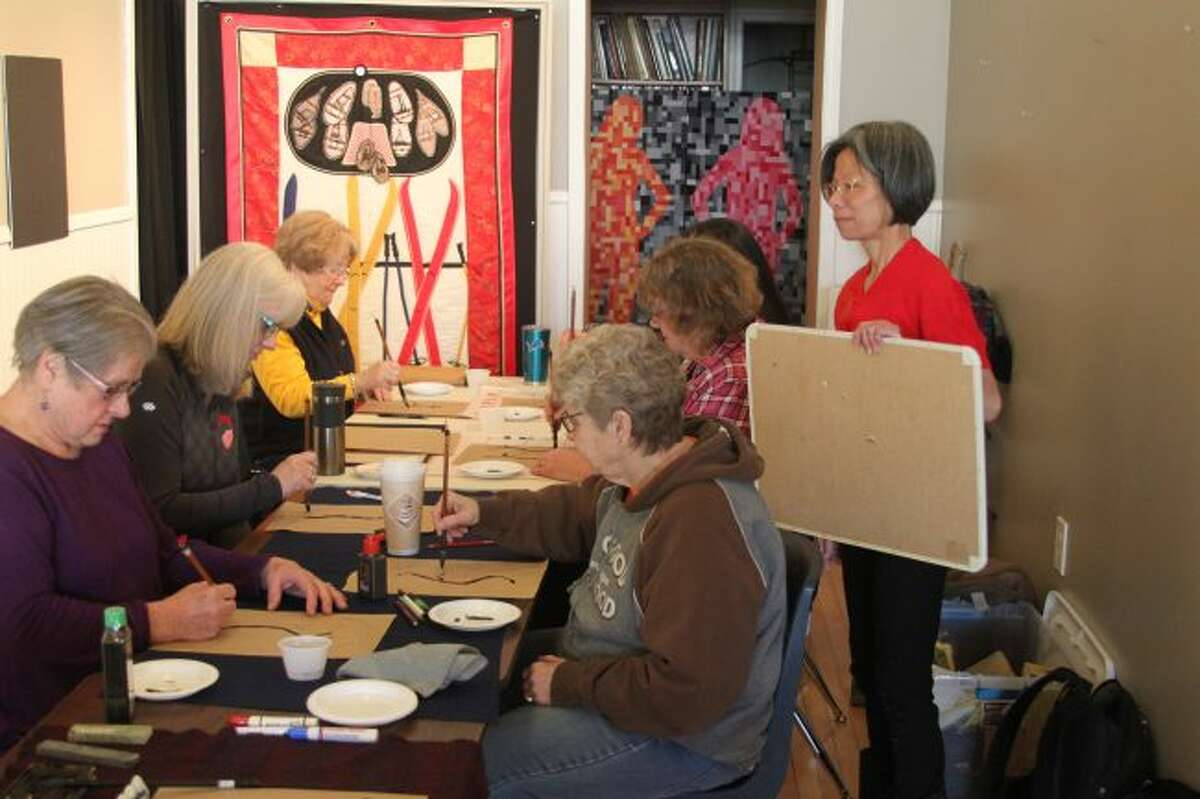 In March the Manistee Art Institute held a calligraphy class for area residents. The art institute is preparing for its 23rd year in 2019.