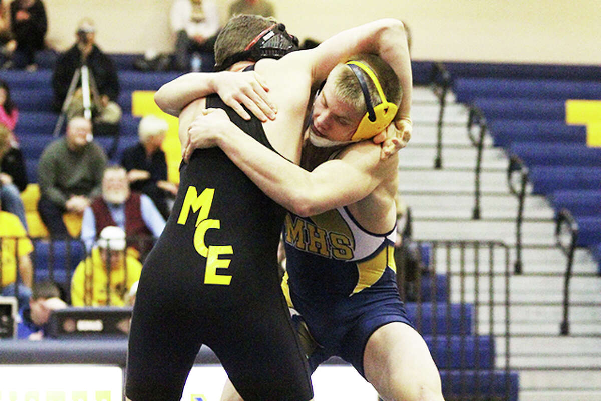 Manistee senior Haydon Codden is part of a core of Chippewas who have grown up wrestling through the ranks of the program. (Matt Wenzel/News Advocate)