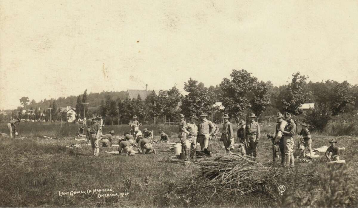 The Manistee Light Guards training near Onekama. (Courtesy Photo/Manistee County Historical Museum)