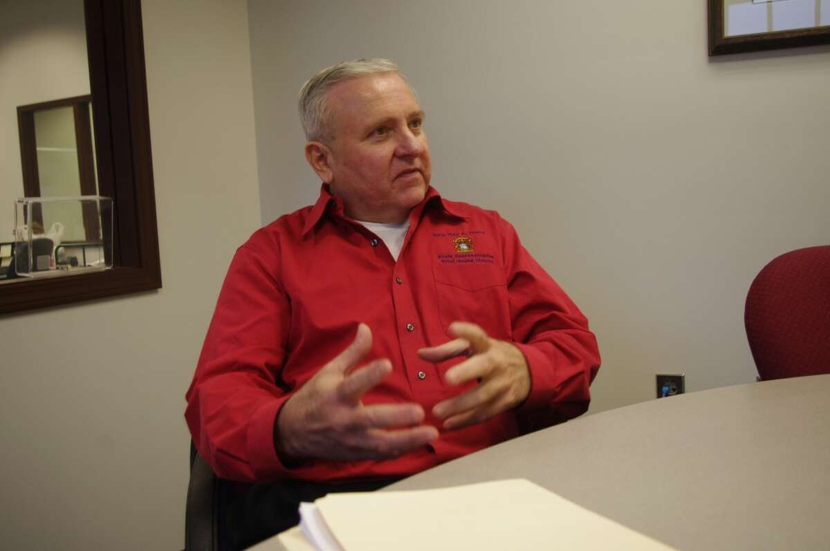 101st State Rep. Ray Franz visited the offices of the Manistee News Advocate on Thursday to talk about what he foresees in the upcoming session of the State House of Representatives. Franz officially begins his second term on january 9. (Dave Yarnell/News Advocate)