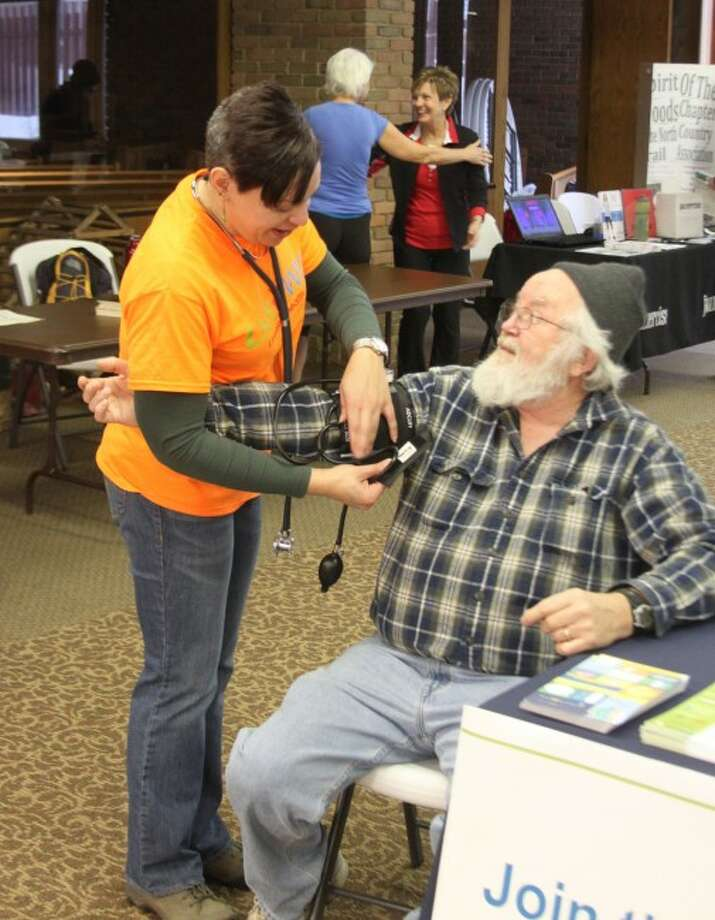 The Care Fair drew many people into the United Methodist Church on Saturday to receive tips on how to get healthy.