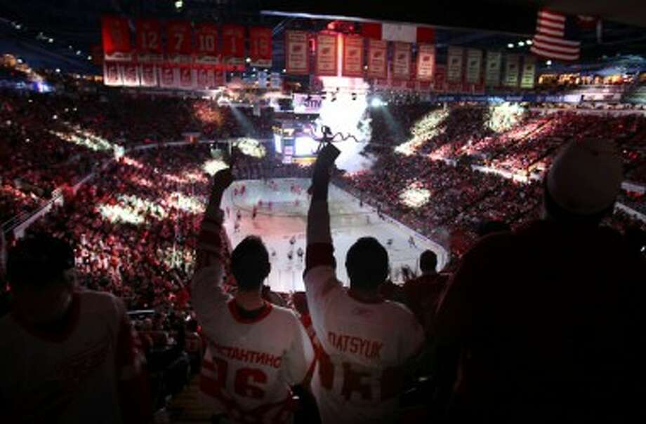 The Joe Louis Arena, pictured packed during a Western Conference quarterfinal a season ago, will remain empty for what is predicted to be a lengthy NHL lockout. (MCT Photo)