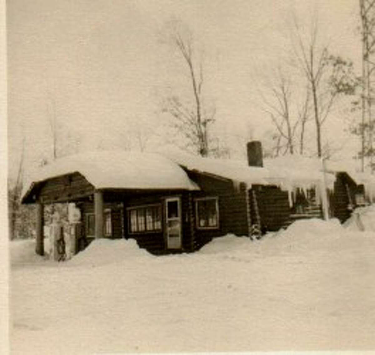Until it burned in the 1980s, the White Star Tavern was a popular stop at the intersection of M-55 and Skocelas Road in Manistee County. (Courtesy Photo/Manistee County Historical Museum)
