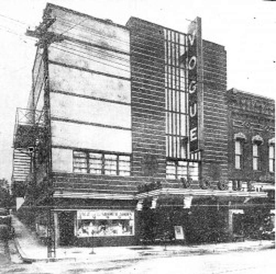 The Vogue Theatre, circa early 1940. (Courtesy Photo/Manistee County Historical Museum)