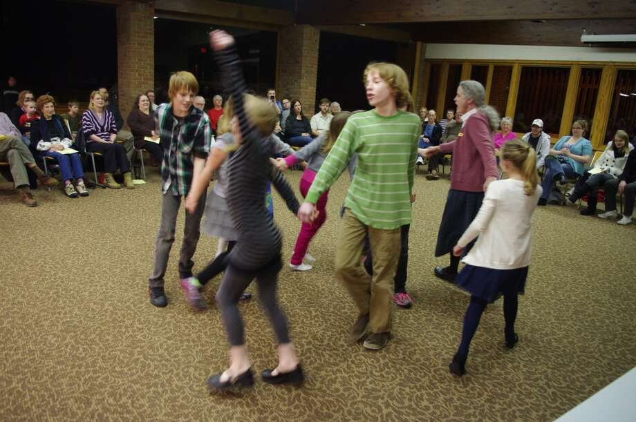 """The fourth through seventh graders in the After School Music program acted out """"Groundhog!"""" (Dave Yarnell/News Advocate)"""
