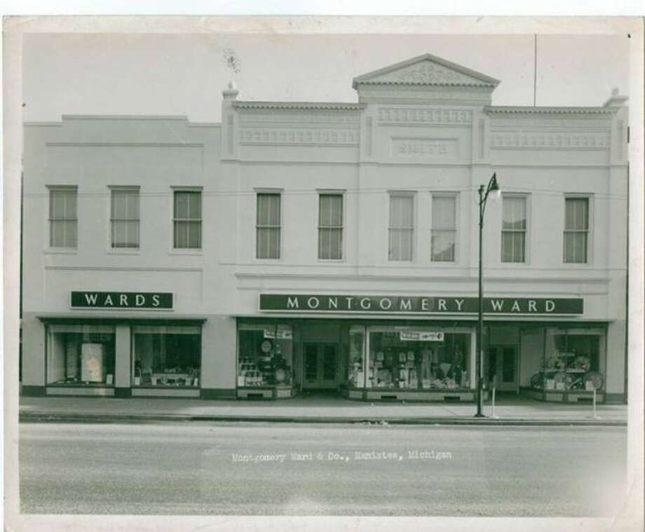 The Montgomery Ward store that was located in downtown Manistee is shown in this 1960s photograph.