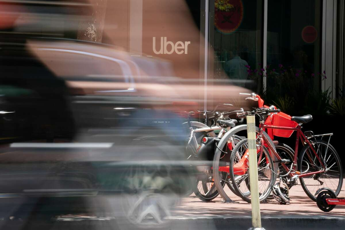 FILE -- Uber's headquarters in San Francisco, June 28, 2019. Uber said it laid off around 400 people worldwide from its marketing team on July 29. (Sarahbeth Maney/The New York Times)