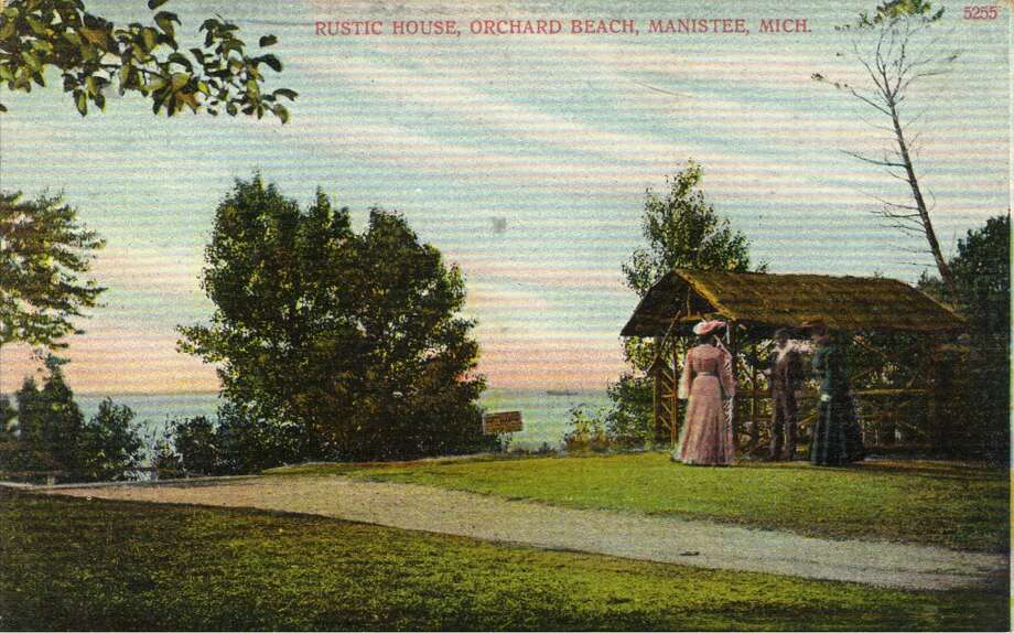 An early 1900s post card view of Orchard Beach north of Manistee, which eventually became Orchard Beach State Park. (Courtesy Photo/Manistee County Historical Museum)