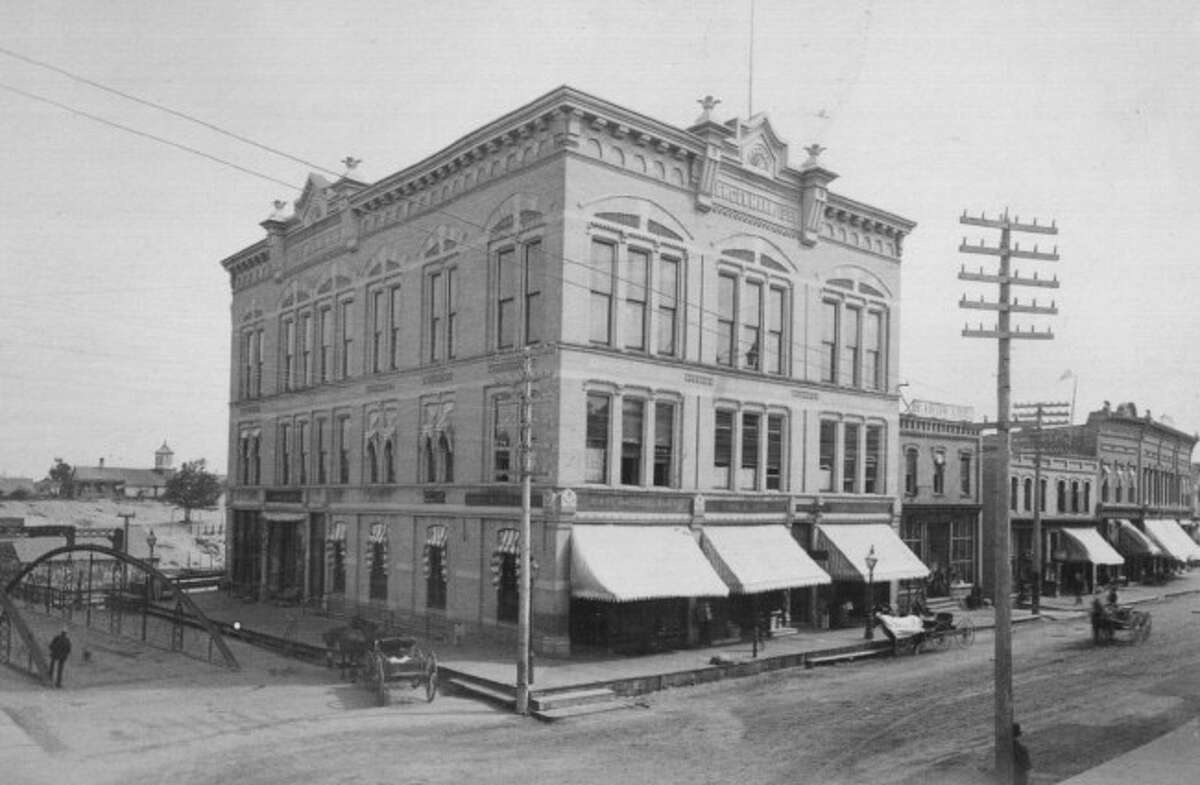 The Engelmann Block was constructed on the corner of River and Maple streets in the early 1880s.