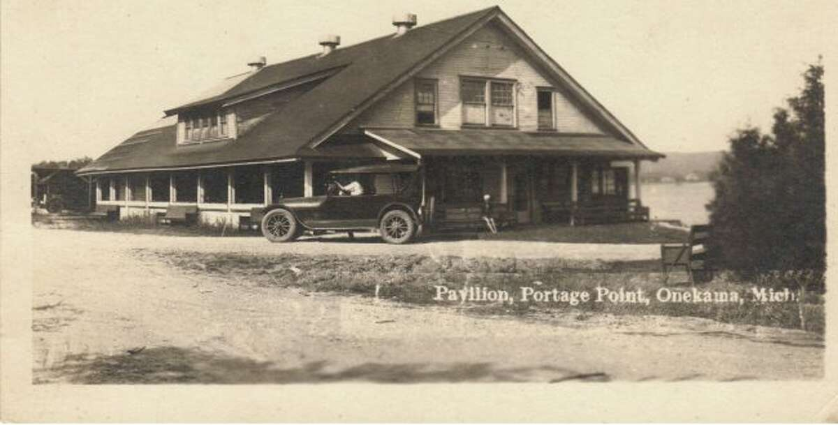 The Portage Point Pavilion is shown in this 1920s photograph.