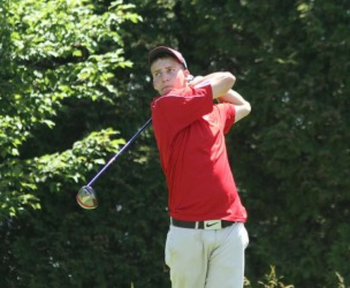 Manistee Catholic Central senior Zack Bialik will play golf at Grand Rapids Community College. (Matt Wenzel/News Advocate file photo)