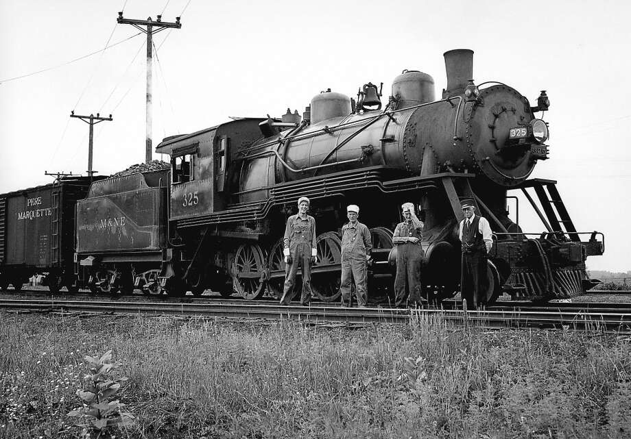 A mid-1900s photo of the crew of a Manistee & Northeastern train. (Courtesy Photo/Bill Ferguson)