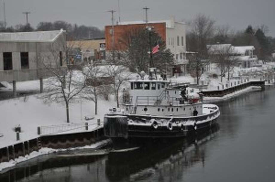 The tug boat Manitou will assist freighters in their transit of Manistee Lake sometime between Jan. 18 and 26.
