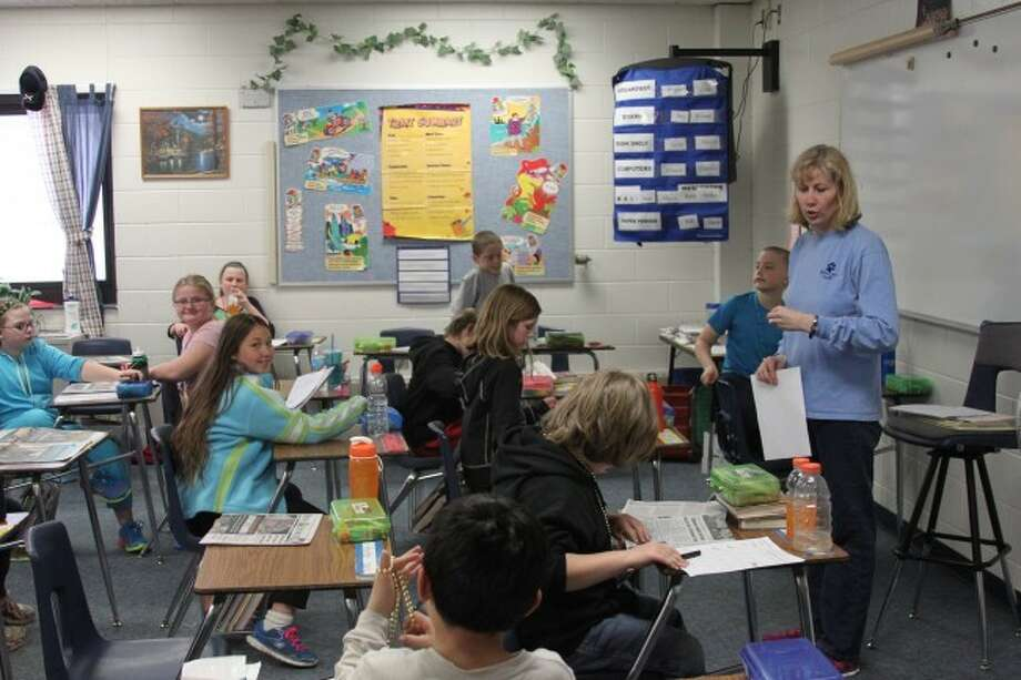 Teachers from the Onekama, Bear Lake and Kaleva Norman Dickson school districts have been working Manistee Intermediate School District General Education Director Kay Salyer on purchasing a math textbooks for all three districts.