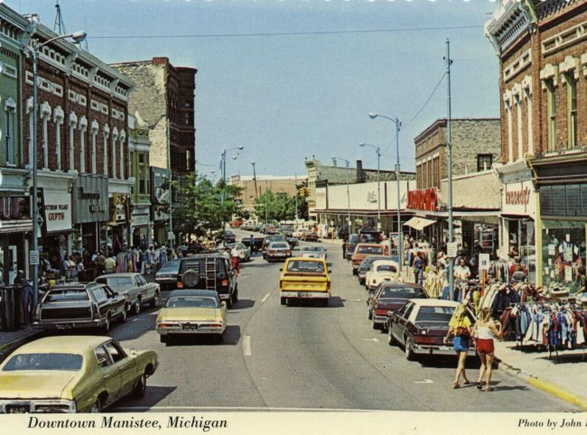 Downtown Manistee circal 1970s.