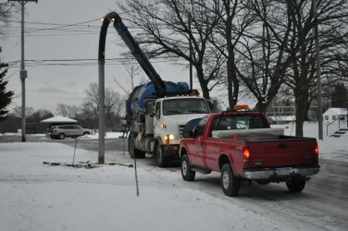 The city's current Vactor in use near Kennedy Elementary Friday morning.