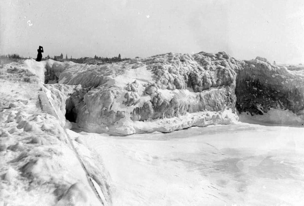 An large iceberg is shown in this 1910 photo off the entrance to the harbor.0 YEARS AGO
