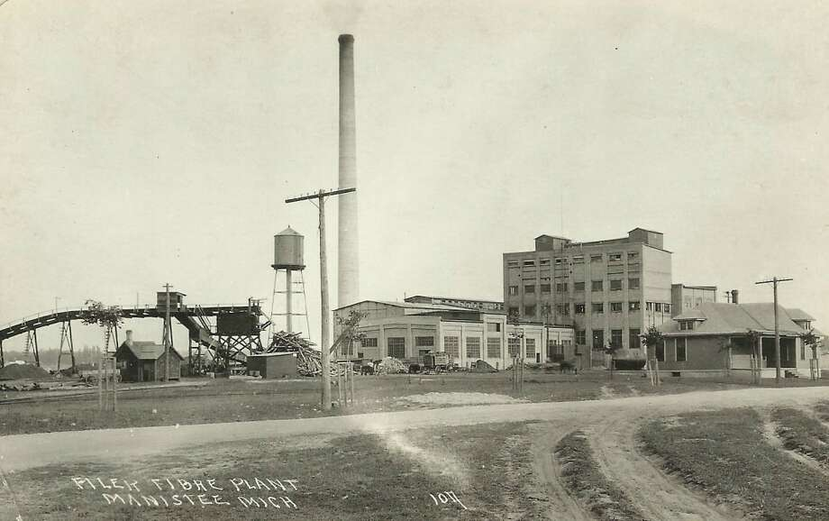 An early 1900s view of Manistee's Filer Fibre plant, which today is Packaging Corporation of America. (Courtesy Photo/Dale Picardat)