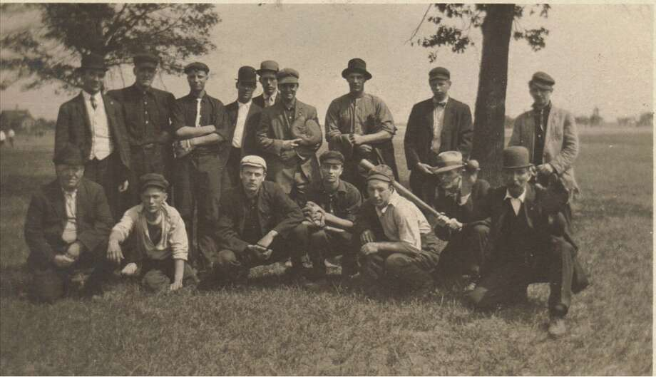"""An early Manistee baseball team -- or """"base ball,"""" as it was called at that time. (Courtesy Photo/Dale Picardat)"""