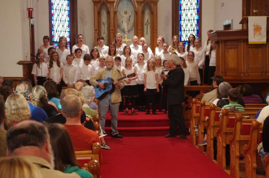 Shown is the Manistee-Benzie Choir in a performance from last year with the singing group The Nephews. Choir director Joy Smith is in the process of starting a City of Manistee Choir and will be having an organizational meeting at 2 p.m. on Feb. 8 at the United Methodist Church.