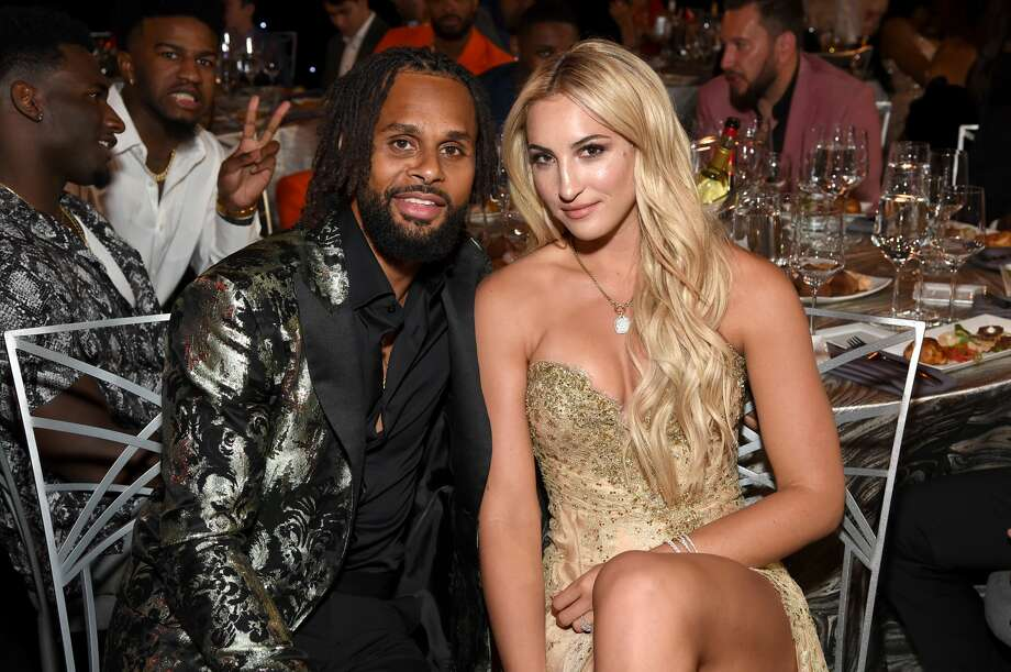 Patty Mills' new wife, Alyssa Mills, was the center of a meme before the Spur stepped in to correct it. Photo: Michael Kovac/Getty Images For Turner Sports