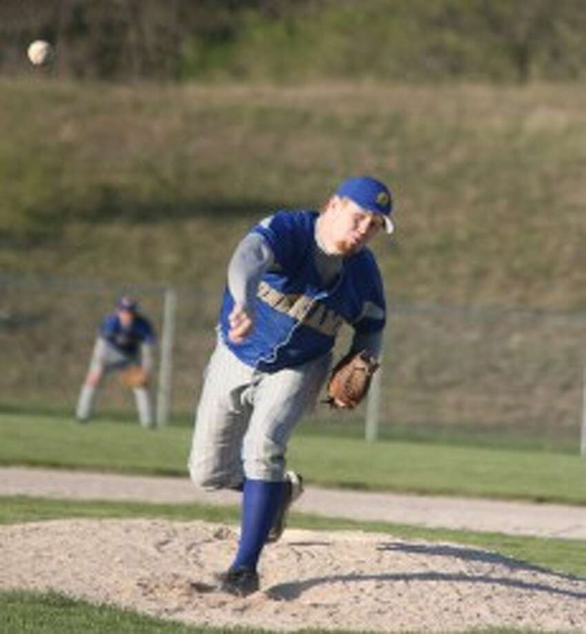 Joe Eno and the Onekama Portagers, along with their softball counterparts, will play host to this year's Division 4 baseball and softball district tournaments. (Dylan Savela/News Advocate file photo)